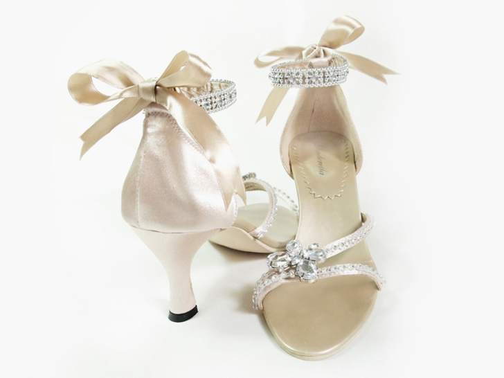the beauty champagne bridal shoes