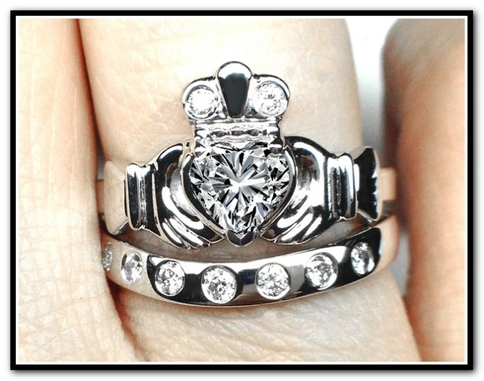 white gold claddagh engagement rings fashion jewelry